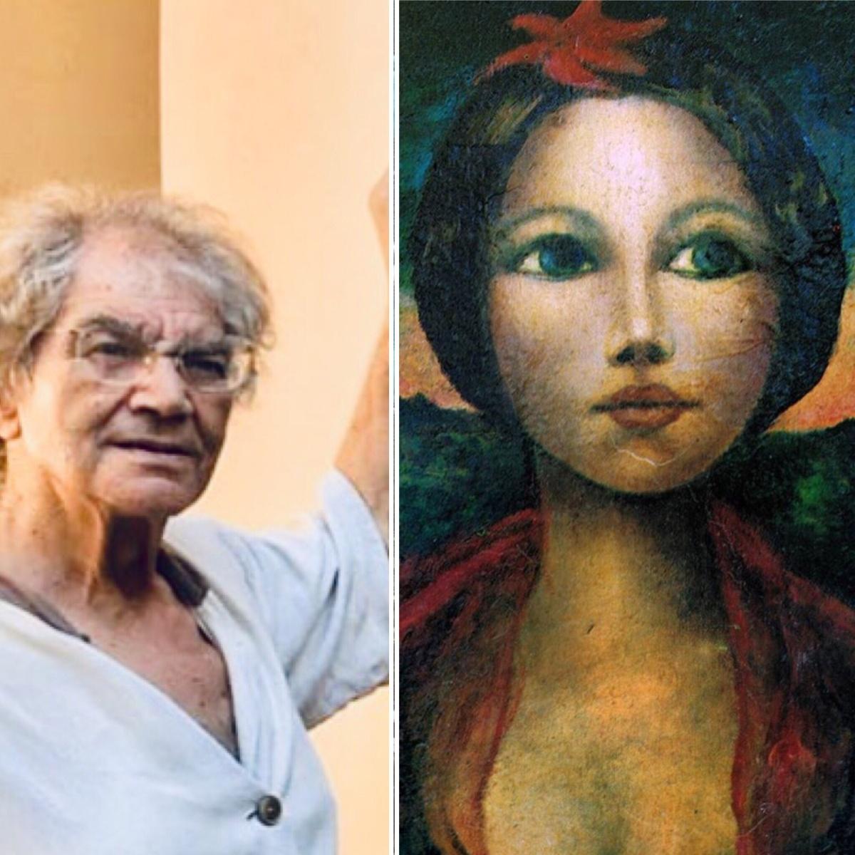 L' artista Giuseppe Bossa  alla mostra Internazionale 'Spoleto Arte' curata daSgarbi